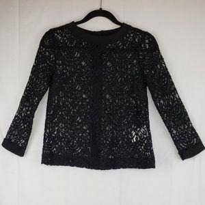 Banana Republic black lace top